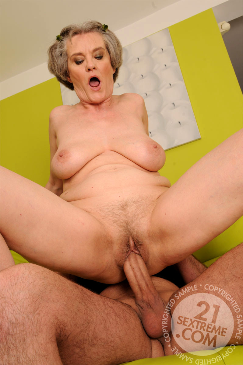Lusty mature woman with younger men