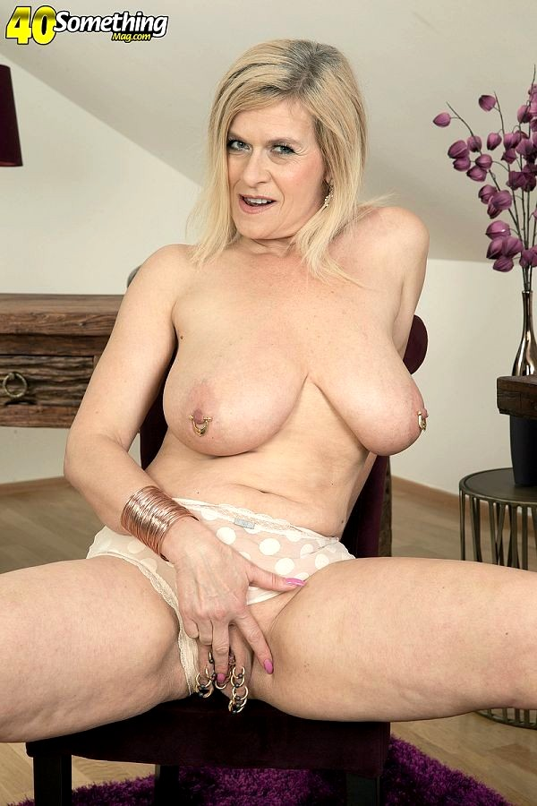 Pierced german milf marina with lots of pussy piercings 3