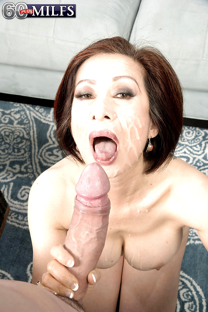 Granny kim swallows some big meat 6