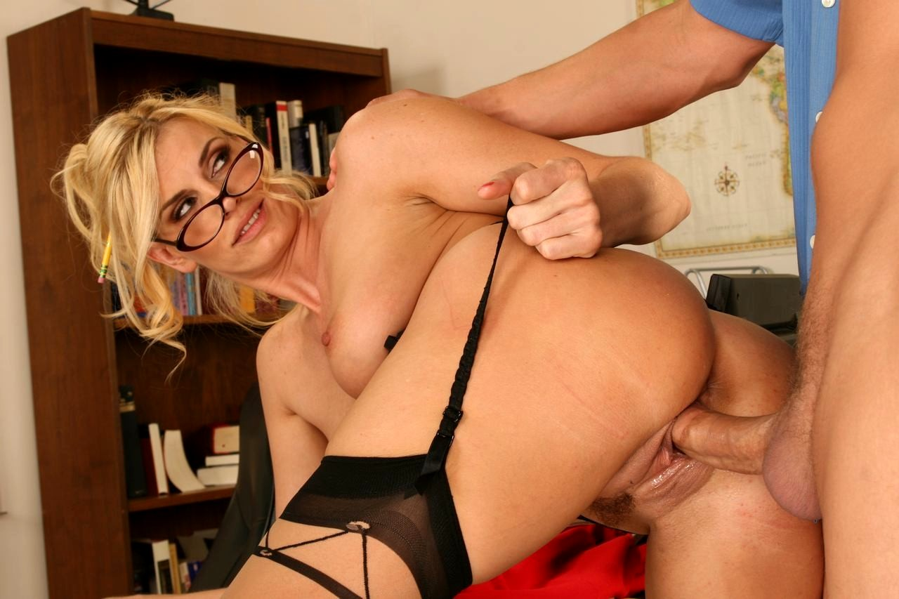 Blonde teacher anal