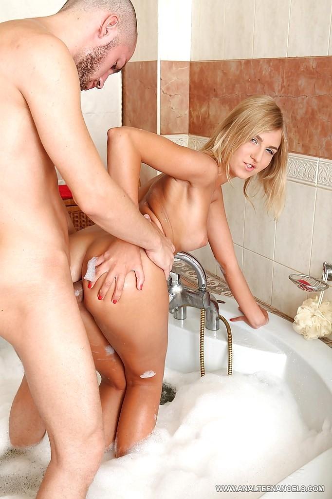 Hardcore bathroom sex with big boobs tight pussy teen