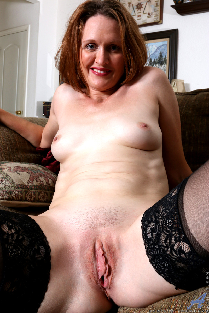 Mature Lady With Soft Tits And Shaved Pussy