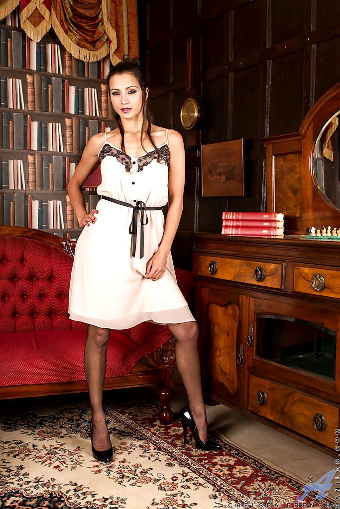 Anilos Mature Women Chelsea French High Res Skirt Hqpics