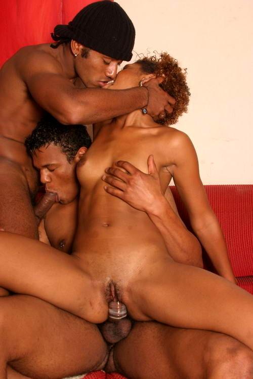 Black Bisexual Threesome Mmf