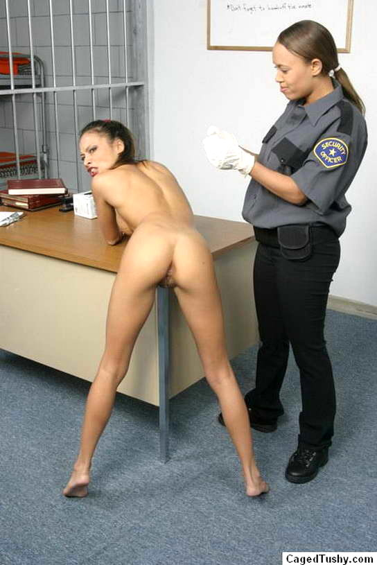Tushy caged Girl in