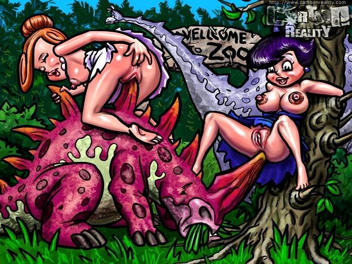 Порно мультфильмы с динозаврами