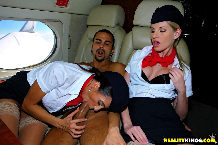 More than Flight attendant cfnm like this