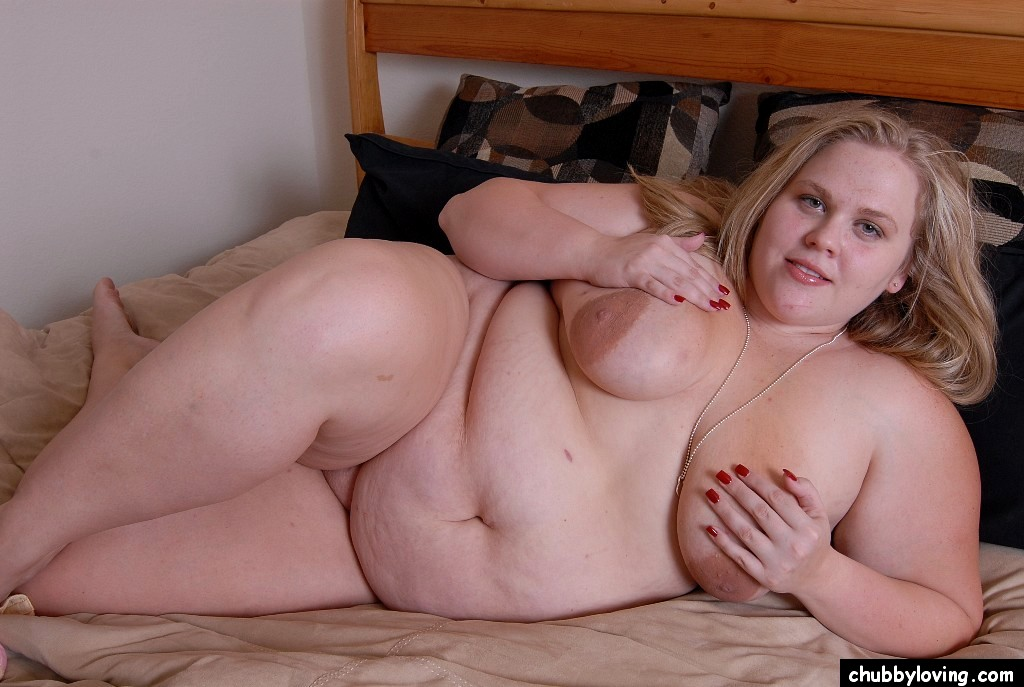 Fat blonde woman with big nipples fucking