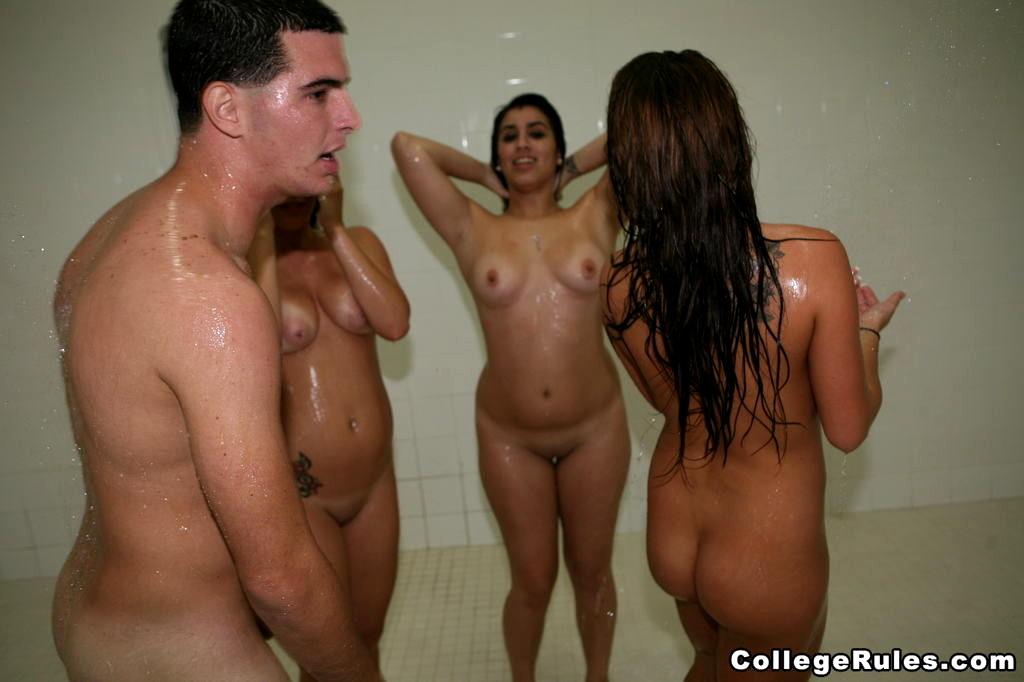 College Girls Dorm Shower