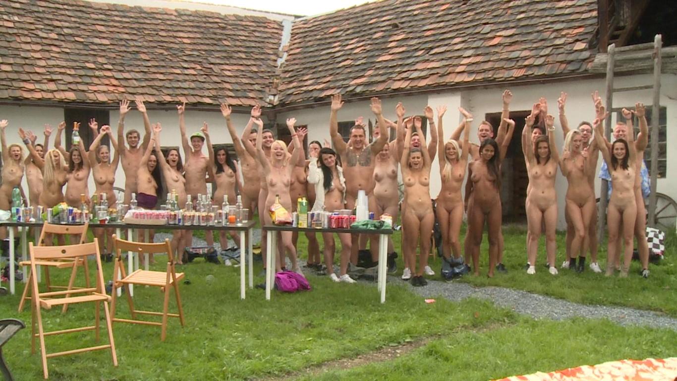 Czech garden party outdoor group sex party