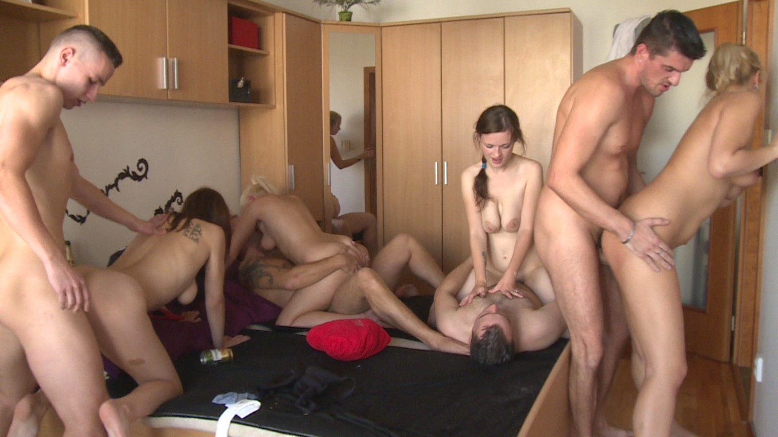 Russian group porn video