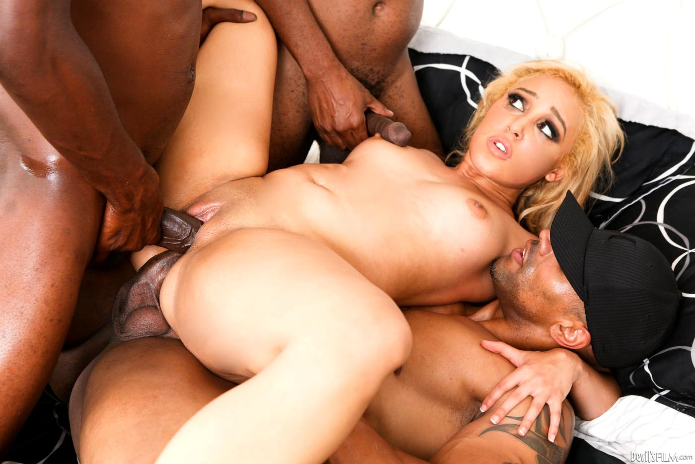 Big jugs blonde whore sarah vandella interracial dp action free mobile porn photo