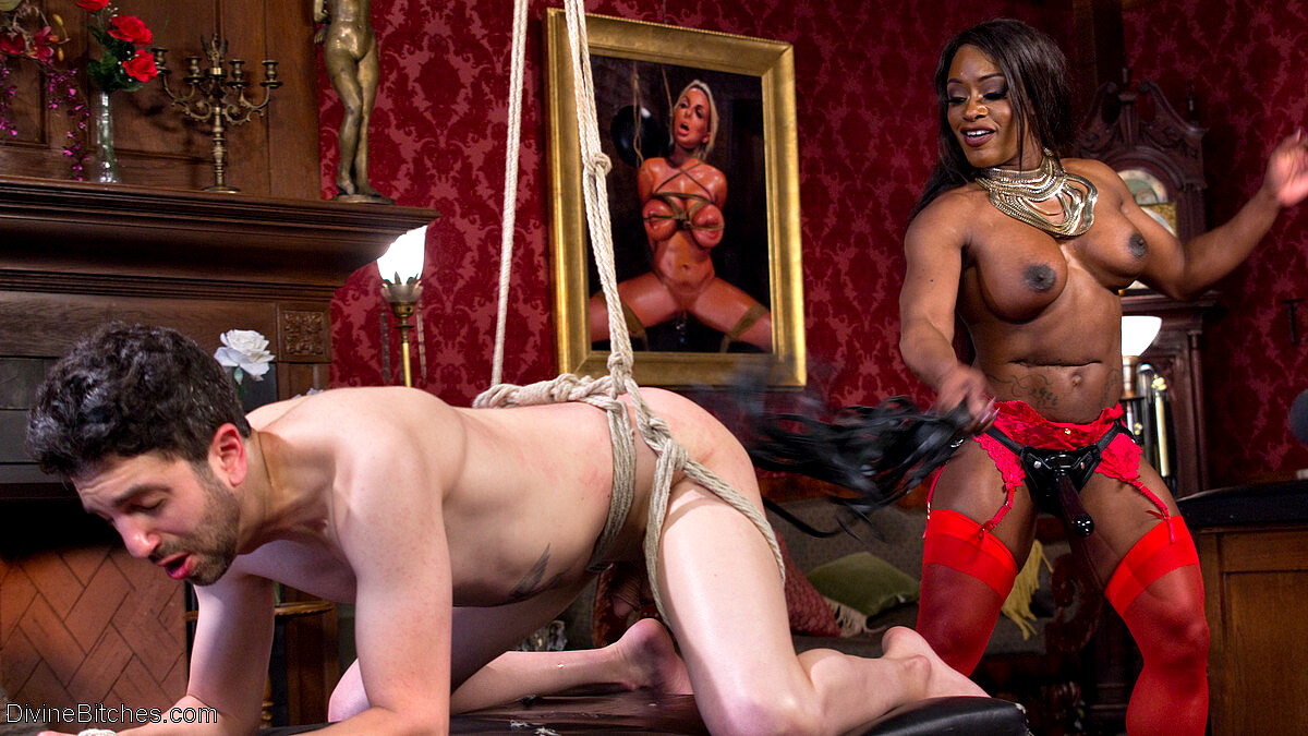 Femdom With Monster Black Strap On Angela Salvagno