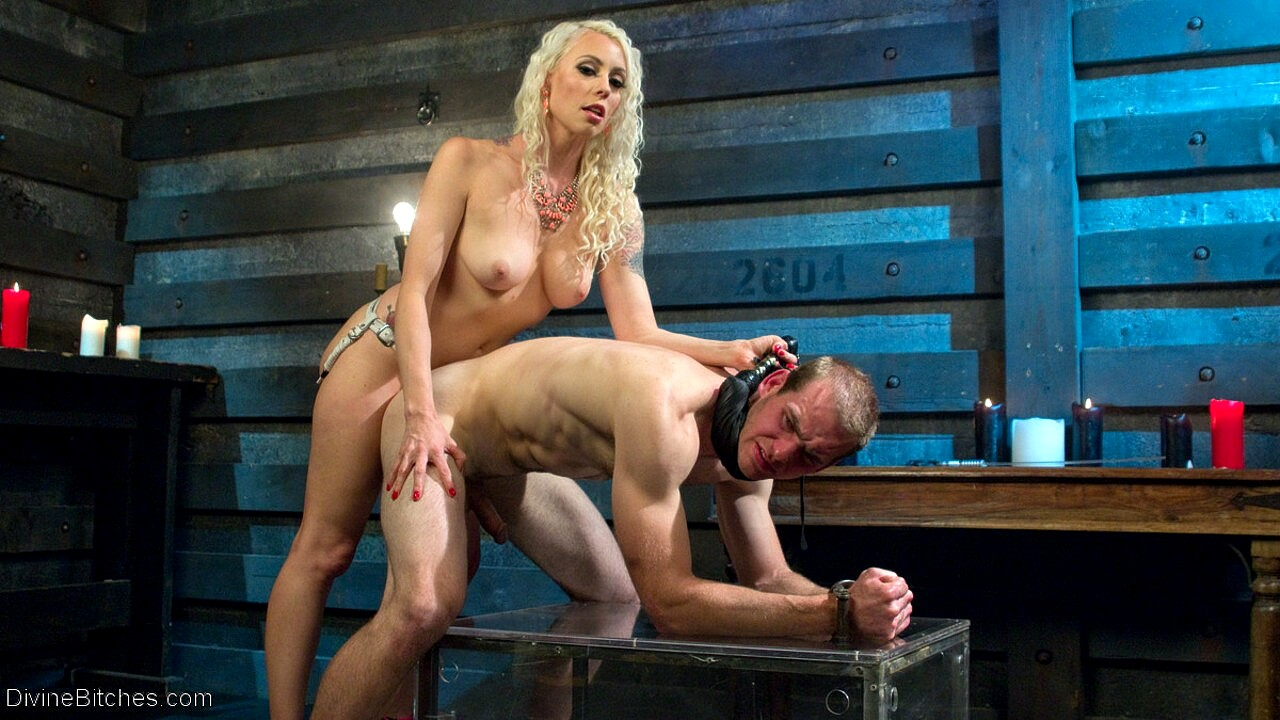Lorelei lee femdom bitch makes slave worship boots