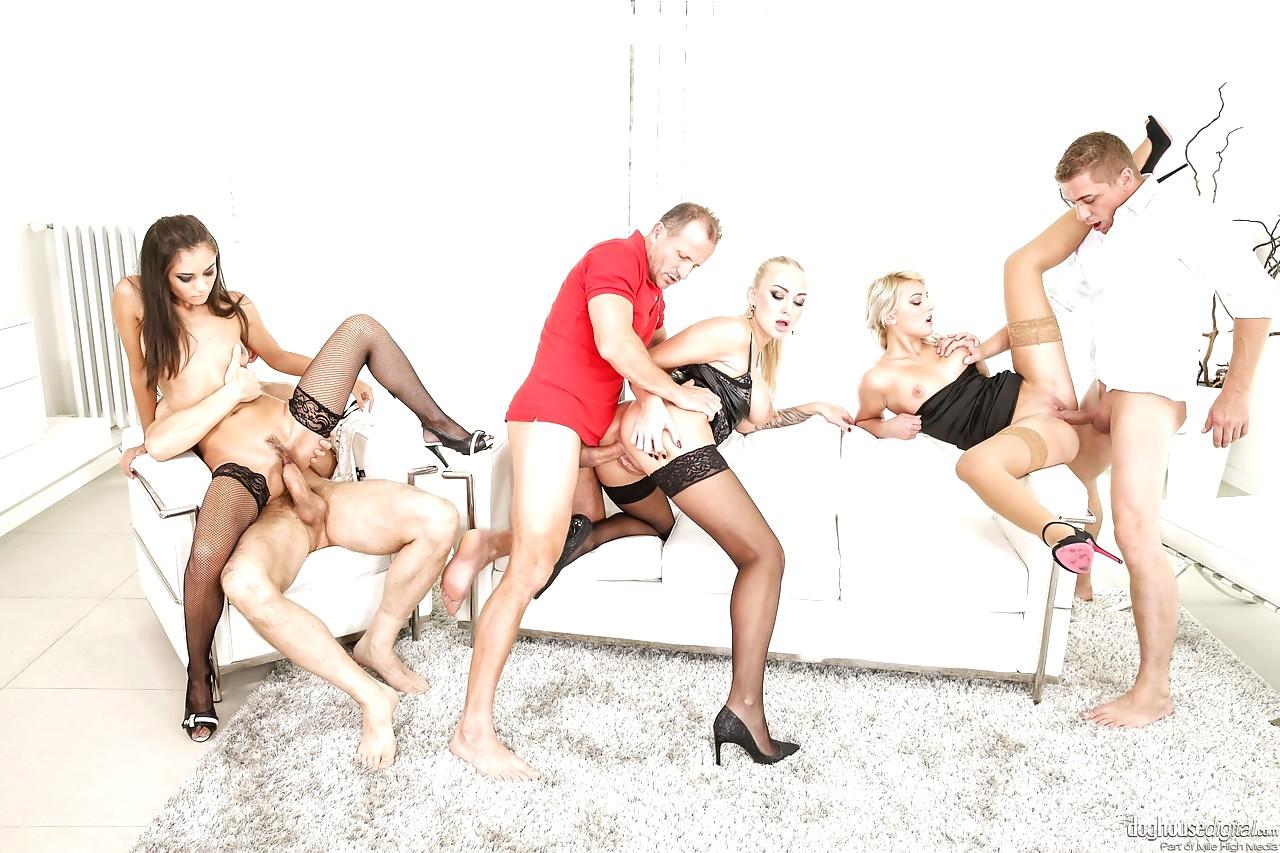 Black stockings orgy
