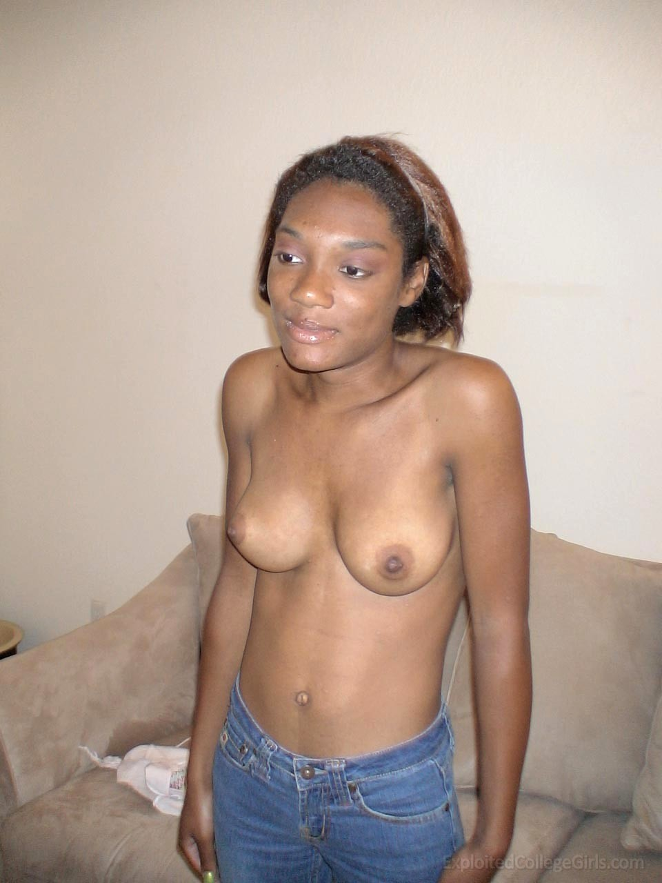 Casually, sexy ebony black college girls can