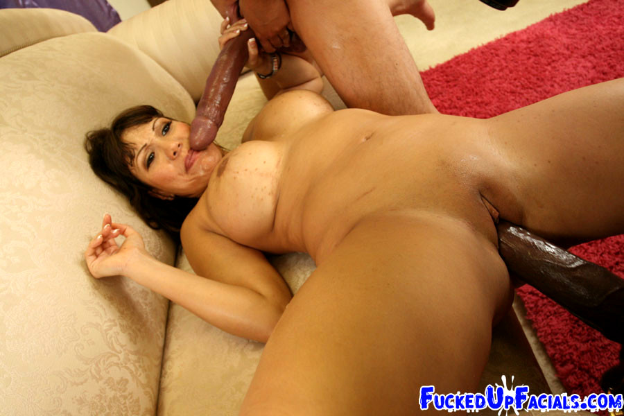 Big boob mom and boy