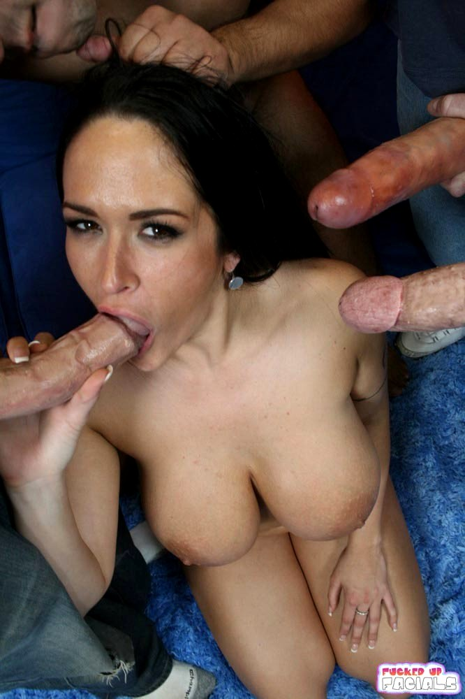 Cum deep in her mouth