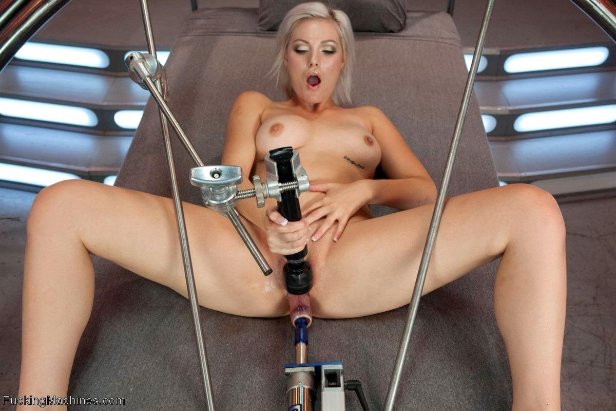 Hot blonde fucking machines