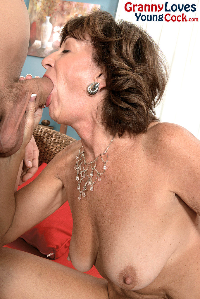 grannie loves his young cock