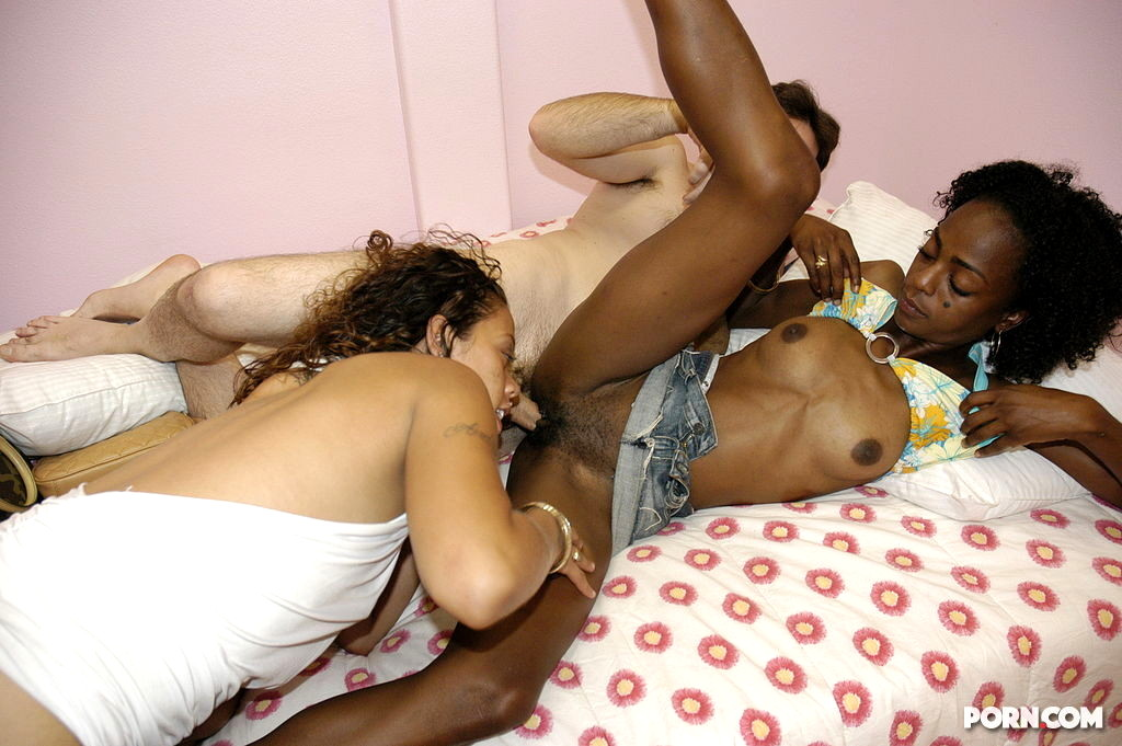Blonde Girl Threesome With Two Big Black Cocks Anal Sex