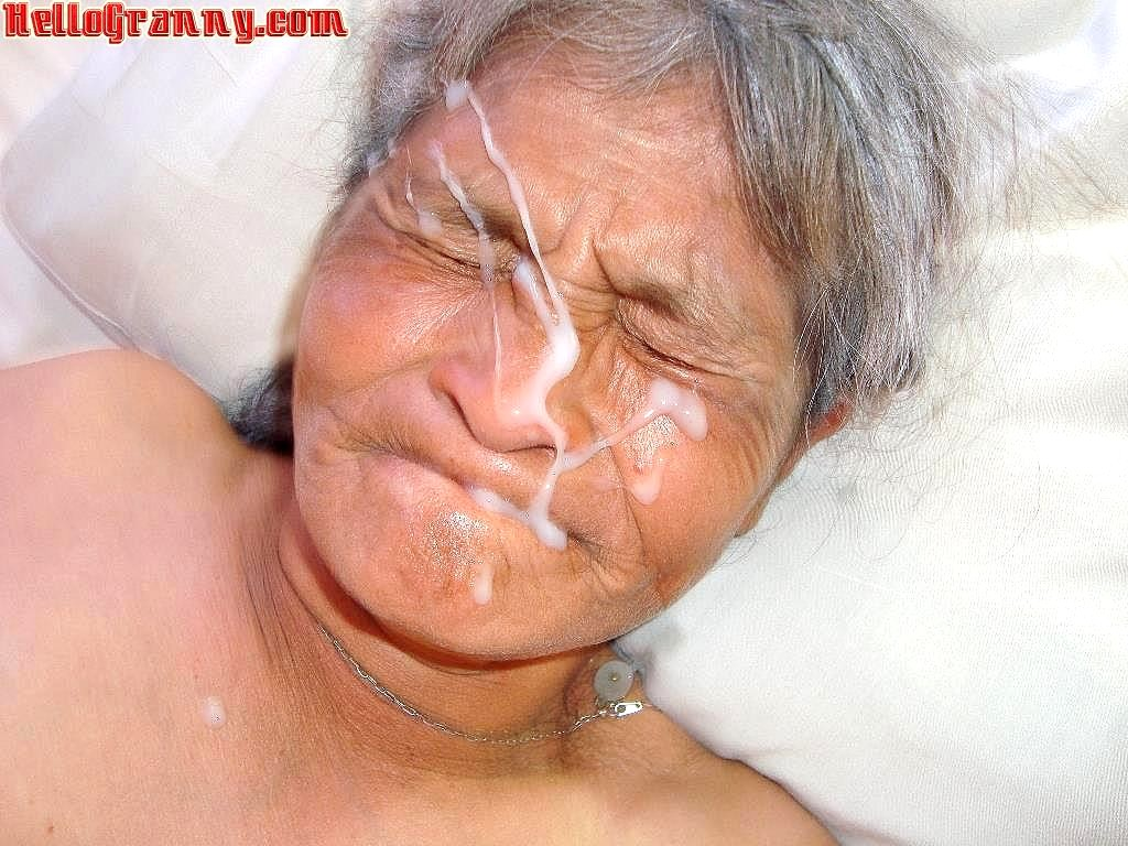 Granny facial shots, fuck sex tape