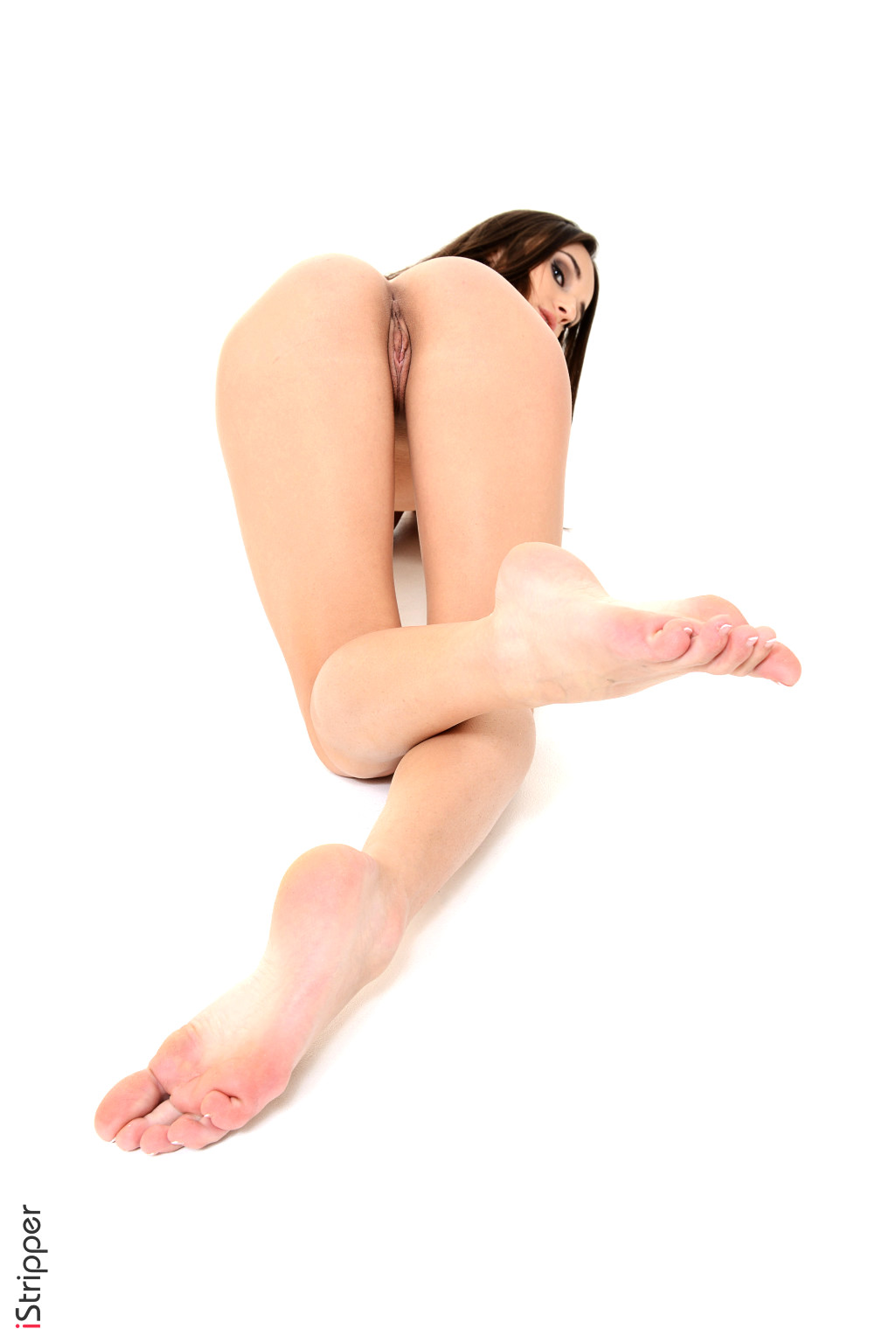 Petite babe in stockings drilling her pussy 7