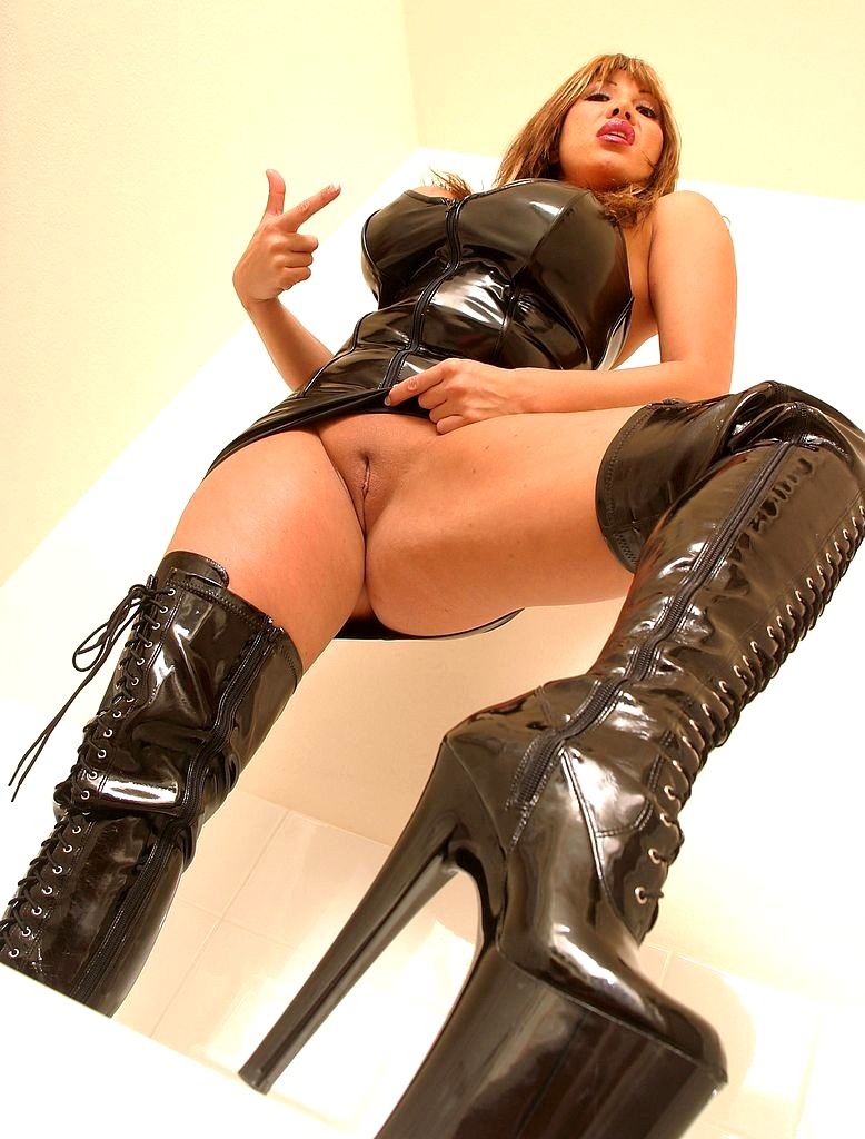 Sexy Asian Only Fans And Ig Model Trucici Does A Custom Nylon And Boot Fetish Photo