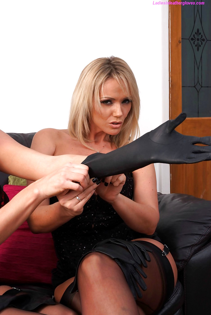 long leather gloves porn