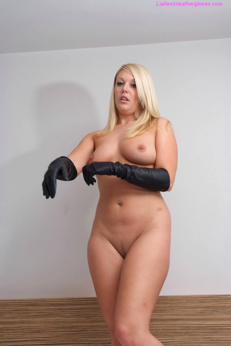 Leather glove porn