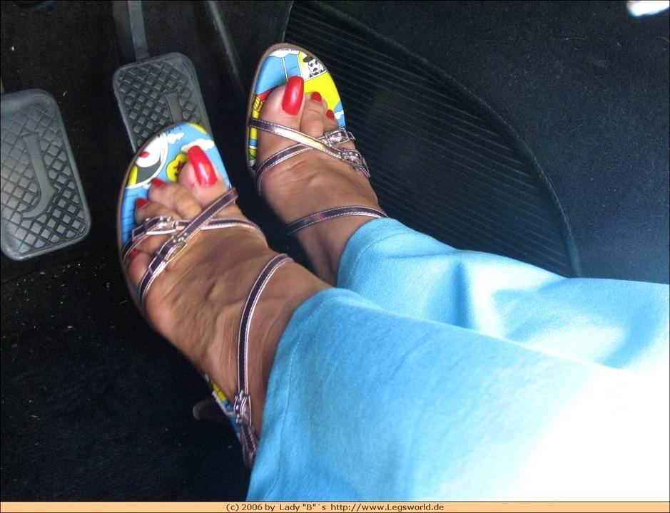 Barbara feet lady Lady B.