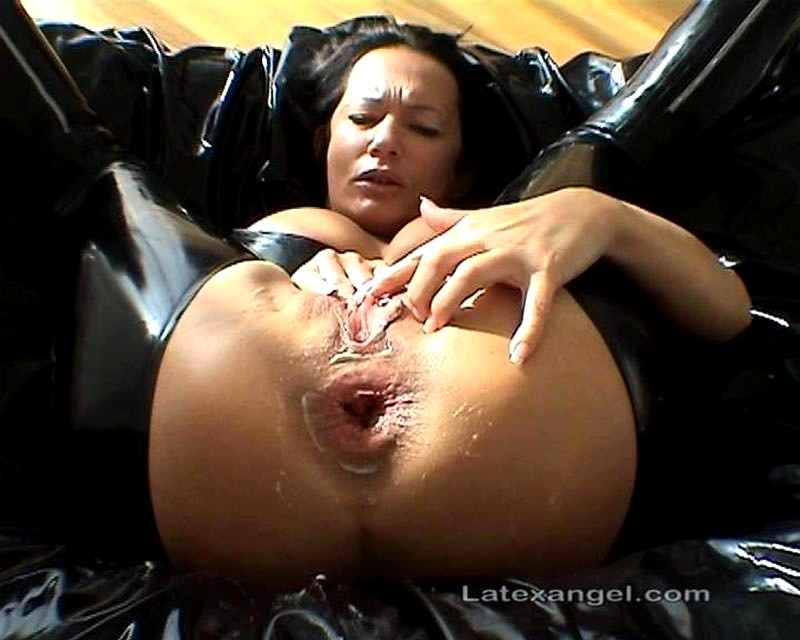 Latex angel anal fist video #13