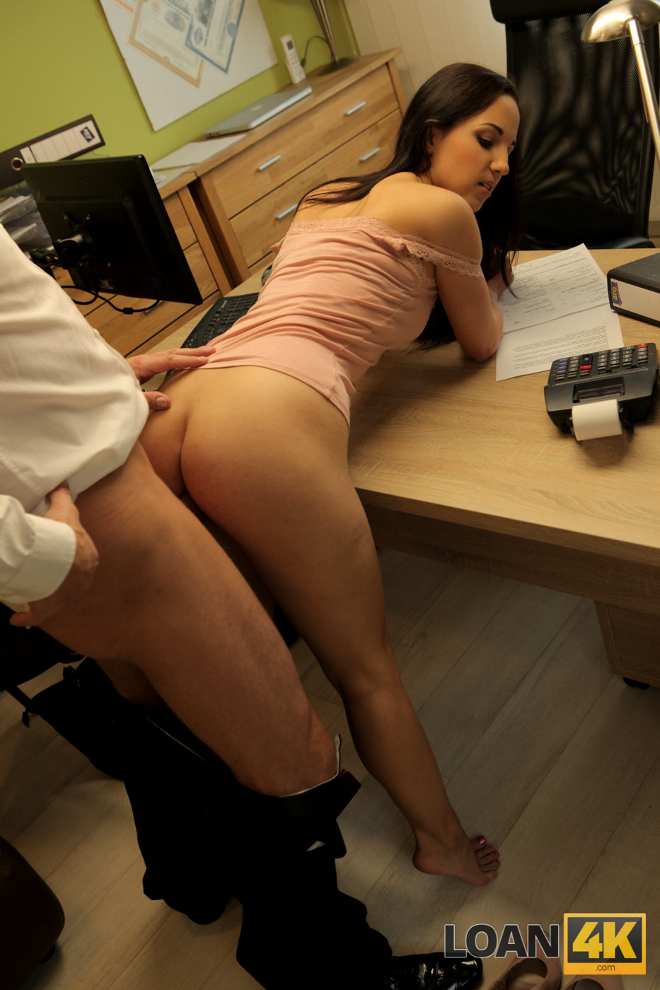 Loan4k. elis passes dirty casting in loan agency with strange man
