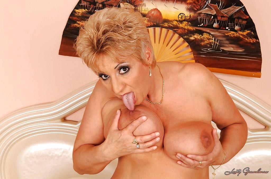 Lusty grandma big boobs Such
