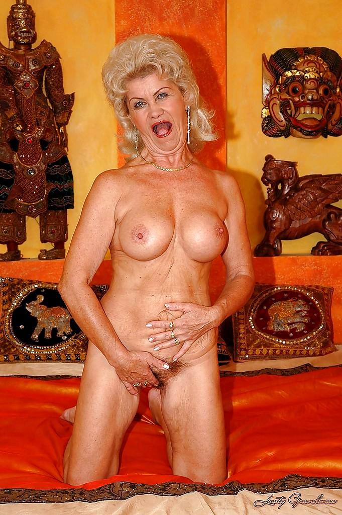Lusty grandma big boobs