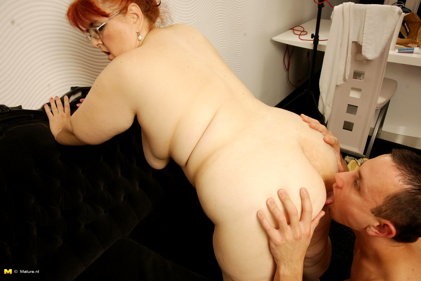 Bbw Granny Rides Her Young Toyboys Cock