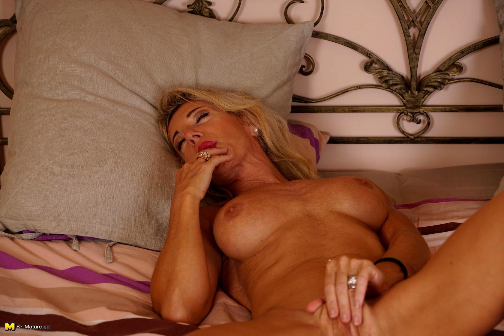 Dirty talk blonde sensual lingerie