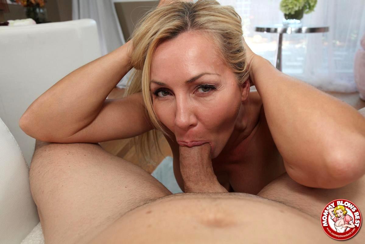 Hot and busty milf stepmom pov style taboo blowjob