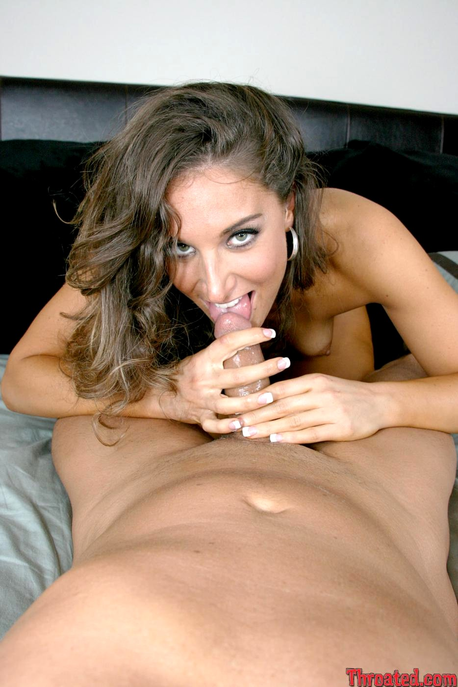 Curly Brunette Bitch Jayma Reid Gets Facial By Horny Guys