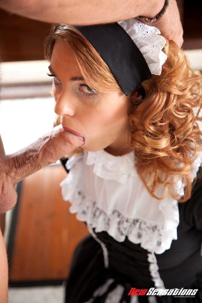 Maid suck cock — img 9