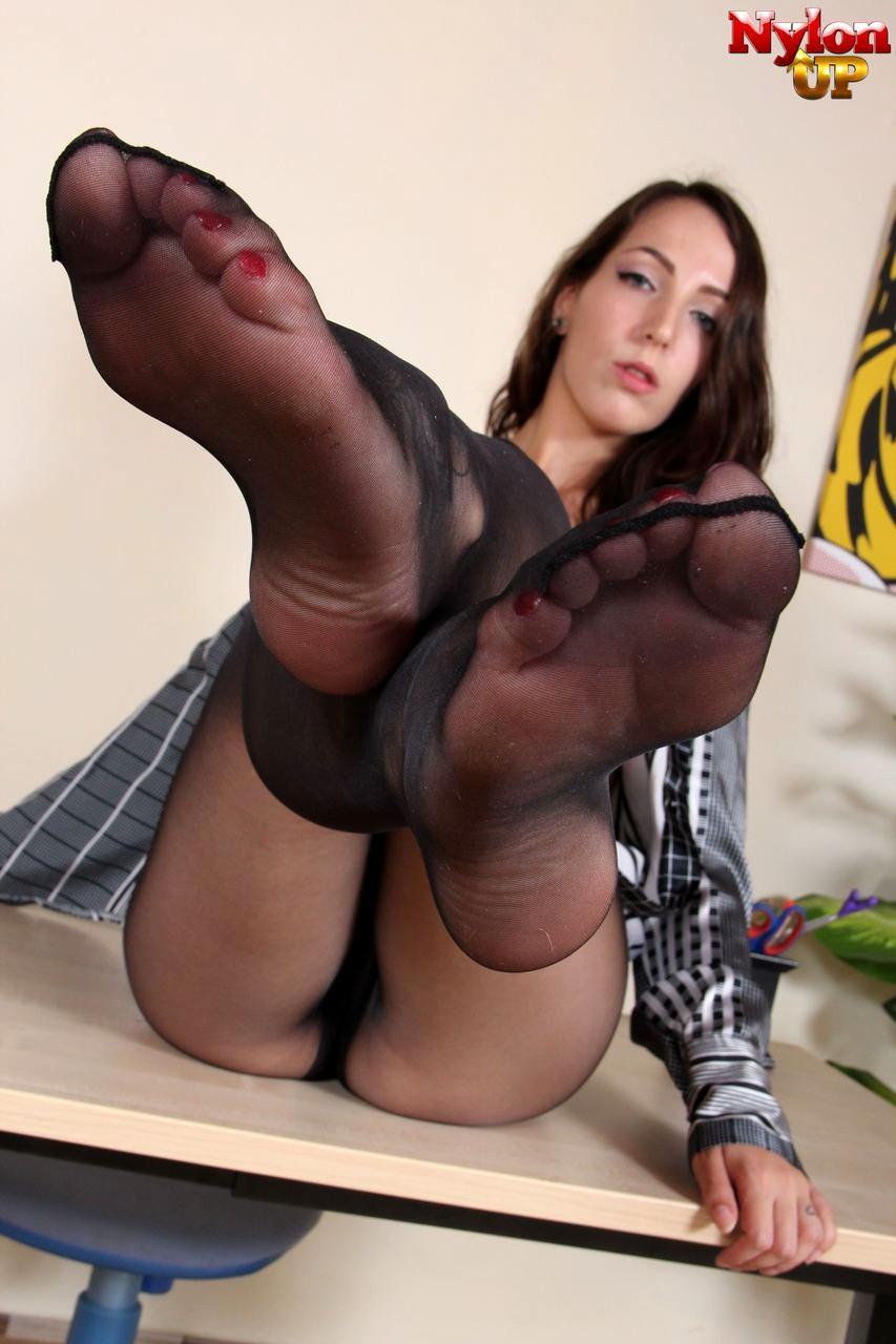 Office Pantyhose Feet