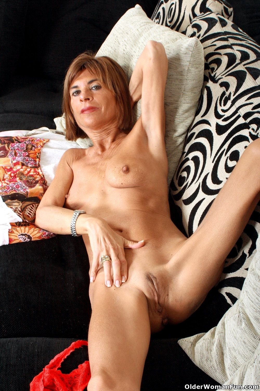 Horny mom blows and rides fake dick 7