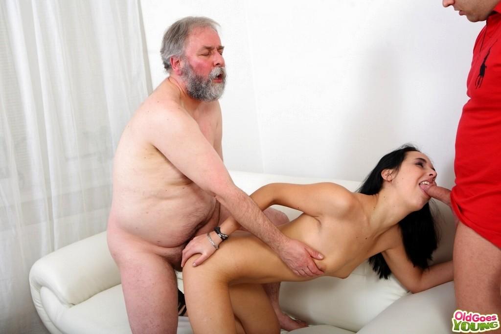 Old man watching he fucks his wife