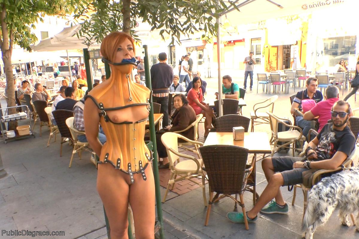 Women tied up in public
