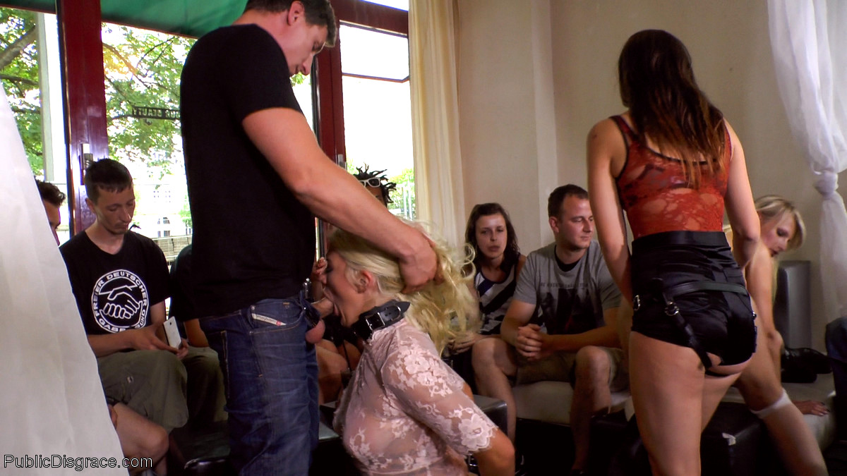 Two Gorgeous Busty Rope Bondage Blondes Get Disgraced