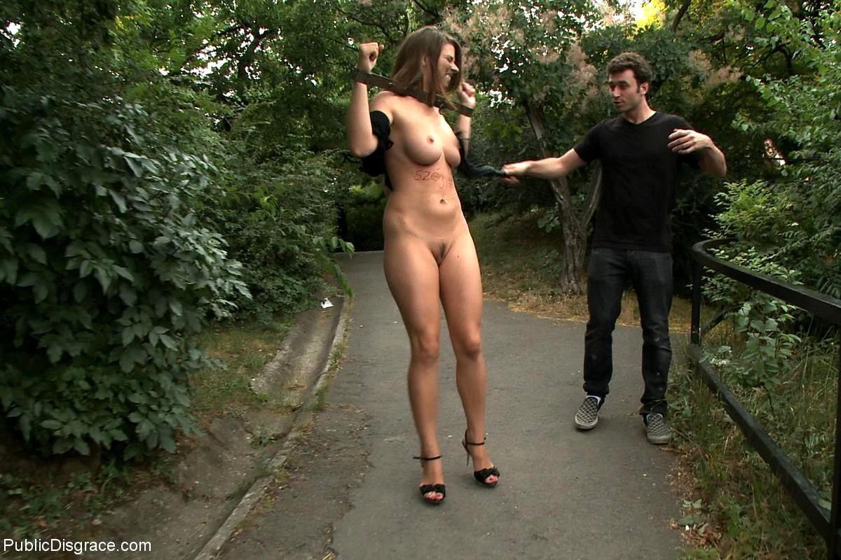 girl tied nude public