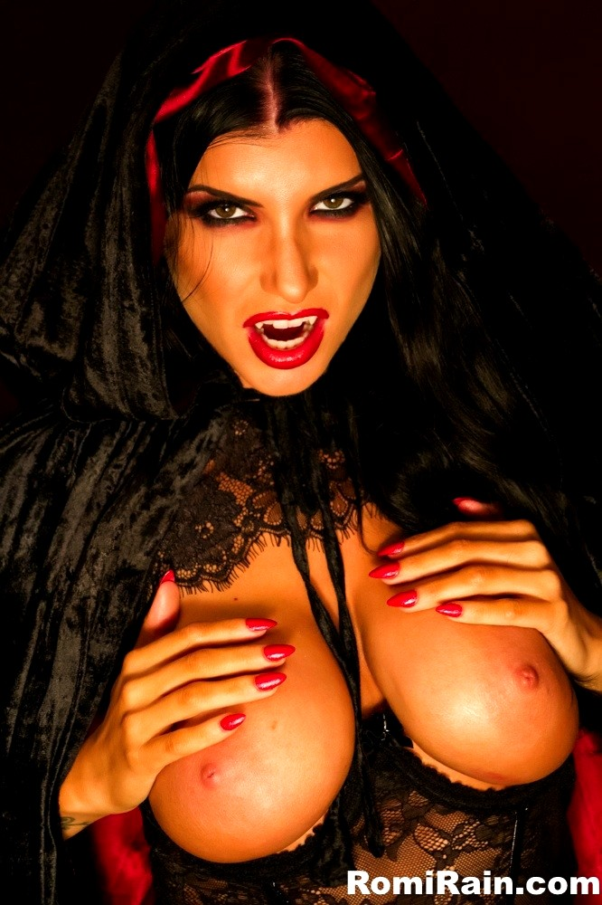 Busty vamp nude bent over muscular