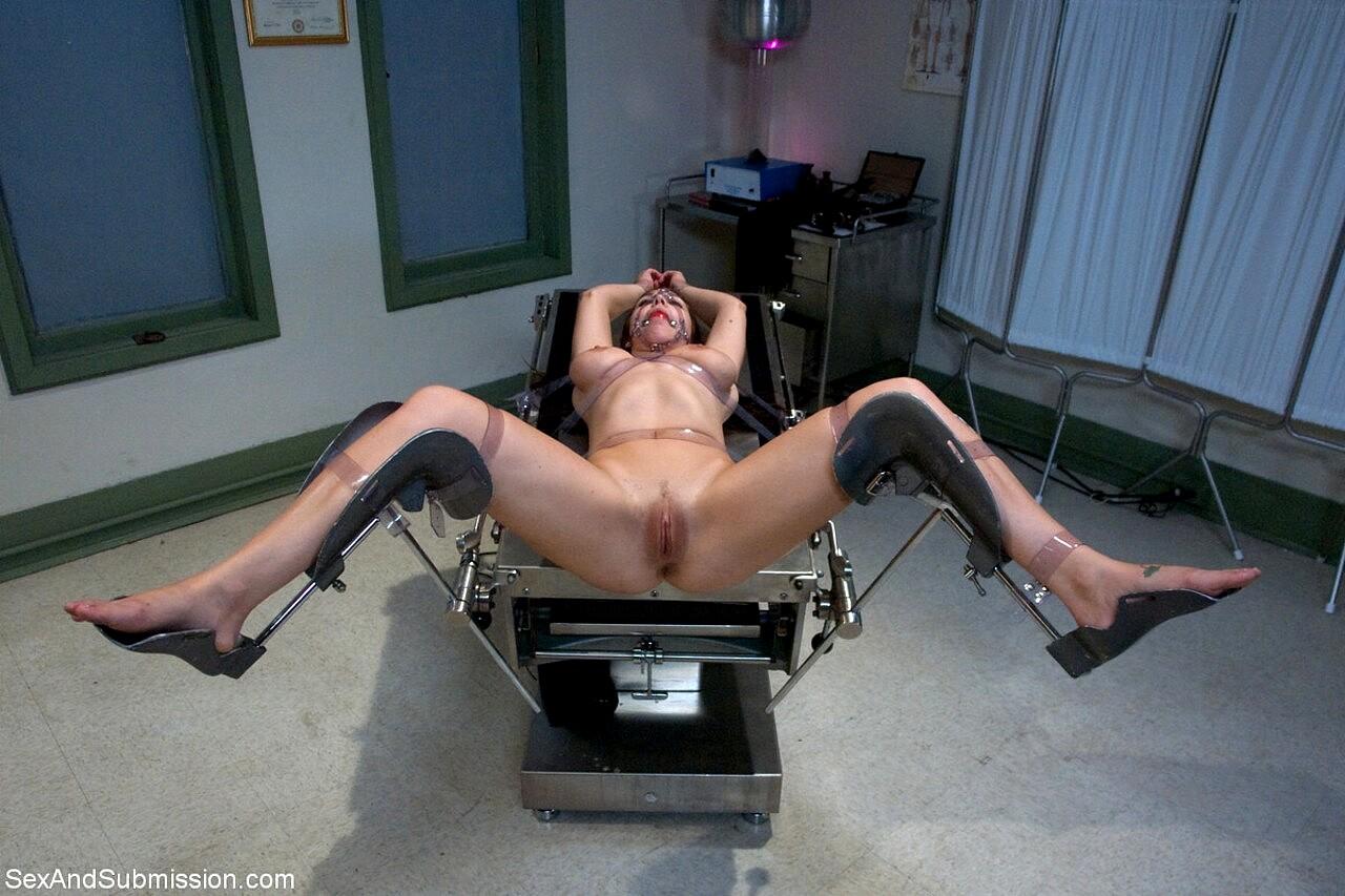 Nurses fucking in the hospital gyno chair