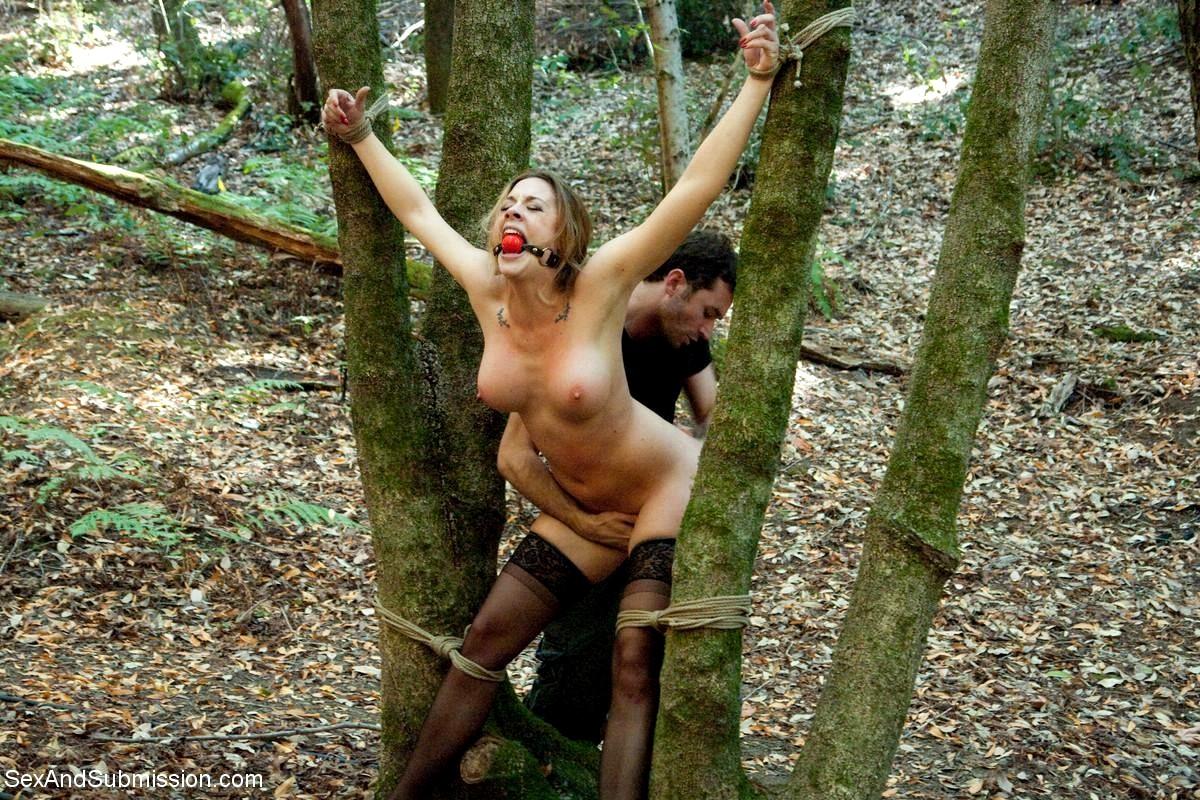 Josh West, Bound Gods Dom Josh West Gets Edged Deep In The Woods