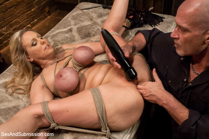 Bondage blowjob then tied down and fist fucked